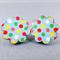 Stud Earrings - Bright Spotty Wooden