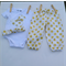 Gorgeous White with Gold Spots Harem Pants with Bird Onesie and headband