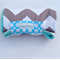 Nappy Diaper Change Mat Grey Chevron with Aqua Minky