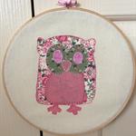 Owl Hoop Art