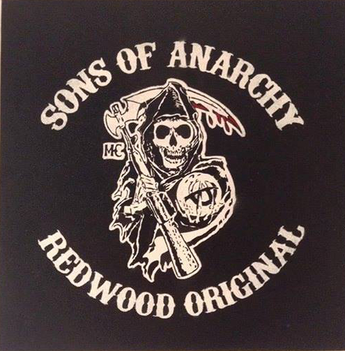 Sons Of Anarchy Motorcycle Club Stencil Art Spray Painted On Canvas Not A Print