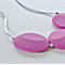 Silicone Teething Necklace - Flat Rocks - Magenta