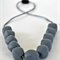 Silicone Teething Necklace -  Pebbles - Grey