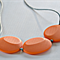 Silicone Teething Necklace - Flat Rocks - Orange