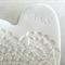 Hand engraved white lace porcelain heart, wedding ring dish, Ceramic.