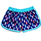 """""""Navy Feathers"""" Sporty shorts by Twinkle Star ~ Sizes 1-5"""