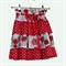 Vintage Print Red Ruffled Skirt