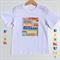 Size 3, Bright Aussie Australia Day Cities Text Tee Tshirt 100% Cotton