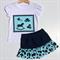 Size 2 Girls Vintage Toys T-shirt Tees & Skirts Silhouette, White 100% Cotton