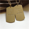 'Eugenia' Matching Set of Silver Dog Tag  Pendant Hand-stamped