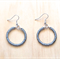 SMALL GREY (TRANSPARENT) COLOUR BASICS EARRINGS - FREE SHIPPING WORLDWIDE