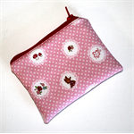 Coin Purse with Cute Little Red Riding Hood Design