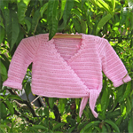 Cotton crocheted ballet cardigan