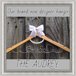 THE AUDREY HANGER, gorgeous pearl necklace detail to compliment any dress.