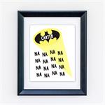 "Bat Signal Personalised 8x10"" Giclee Print"