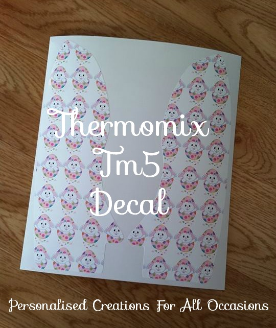 Thermomix Removable Vinyl Decal Tm5 Easter Personalised