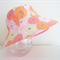 Girls summer hats in sweet floral fabric