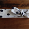 White & Navy spotty headtie