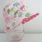 Girls summer hat in cute elephant fabric