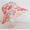Girls sweet summer hats in floral fabric