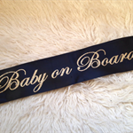 ADORABLE high quality CUSTOM glitter sashes for perfect for Baby Showers.