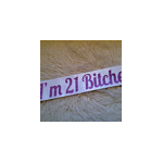 AWESOME high quality CUSTOM glitter sashes for 18th's, 21st, 30th etc.