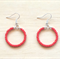 SMALL RED COLOUR BASICS EARRINGS - FREE SHIPPING WORLDWIDE