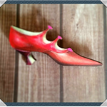 """Classic Red Shoe"""" brooch"""