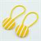 Button Hair Ties - yellow & white stripe
