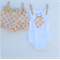 Gorgeous Pink with Gold Spots Baby Shorties Bloomers with Cup cake singlet