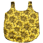 Large Yellow Floral Shopping Tote