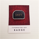 Vintage typewriter-key badge - SHIFT key