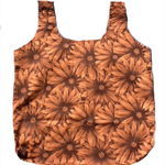Large Brown Floral Shopping Tote