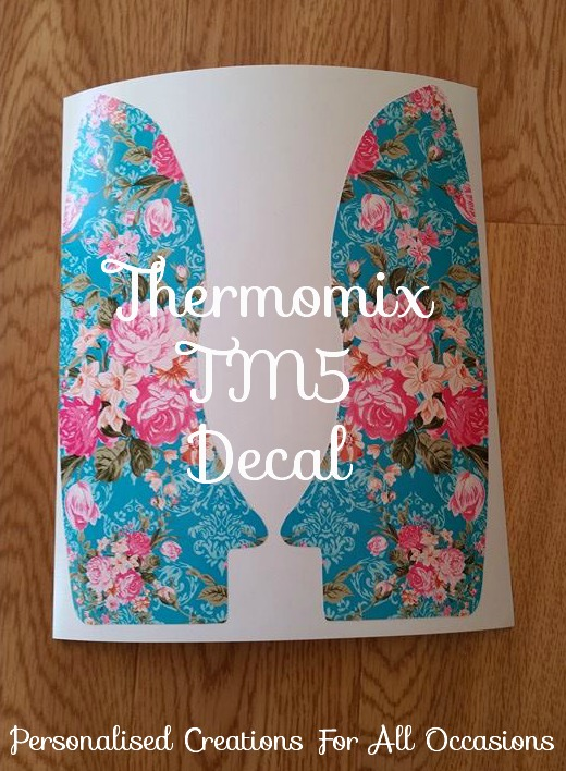 thermomix removable vinyl decal tm5 personalised creations for all occasions. Black Bedroom Furniture Sets. Home Design Ideas