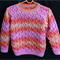 Girl's Wool Jumper/Sweater Hand Knitted size 18 to 24 months