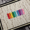 """Rainbow"" ~ set of ten essential multi-coloured rainbow hair clips"