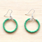 SMALL GREEN COLOUR BASICS EARRINGS - FREE SHIPPING WORLDWIDE