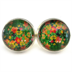 STUD EARRINGS- Green garden