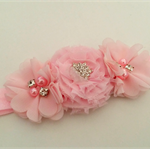 """Sybella"" Headband in Baby Pink"