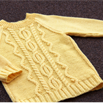 Wool Girls Jumper_Sweater Hand Knitted size 2-3 years