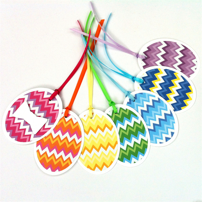 Easter egg gift tags rainbow chevron design with ribbons and bows easter egg gift tags rainbow chevron design with ribbons and bows easter gifts negle Image collections