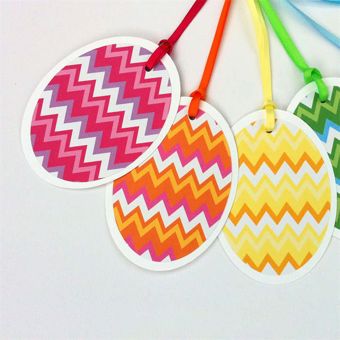 Easter egg gift tags rainbow chevron design with ribbons and bows easter egg gift tags rainbow chevron design with ribbons and bows negle Image collections