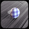 Lilac and White Gingham: Bezel Set Ring (Medium)