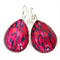 TEARDROP LEVER BACK EARRINGS- Red and black