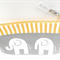 Makeup Bag - Makeup Pouch - Elephants - Grey Yellow White