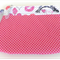 Makeup Purse - Makeup Pouch - Pink & White Spots