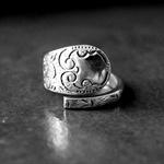 Swirl Patterned Teaspoon Ring