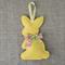 Lavender bunny, sachet, yellow, rabbit, felt, Liberty bow