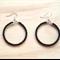 LARGE BLACK COLOUR BASICS EARRINGS - FREE SHIPPING WORLDWIDE