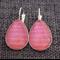 Cherry Geo Arrow ~ Teardrop Lever Back Earrings